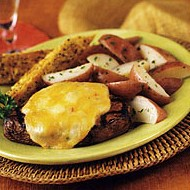 Cheese Steak with Red Potatoes